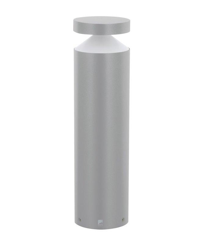 Nowoczesna 45cm zewnętrzna lampa stojąca Melzo srebrna nowoczesna