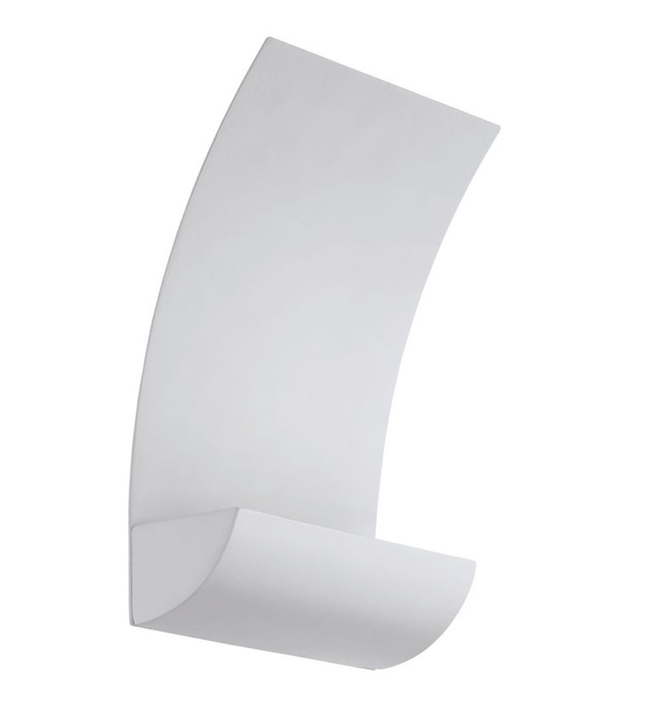 Nowoczesny zewnętrzny kinkiet do ogrodu Monteu LED biały