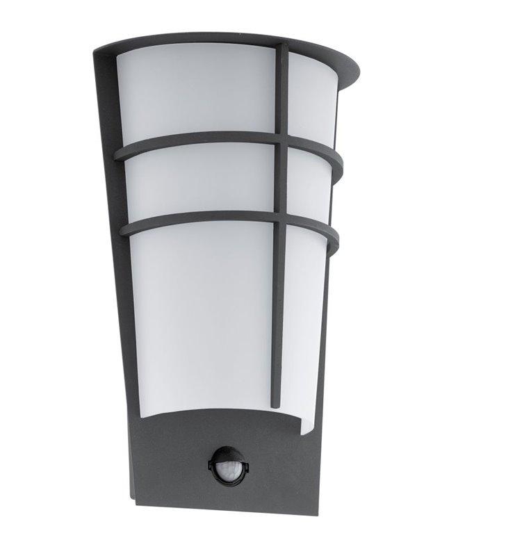 Grafitowa nowoczesna lampa ścienna ogrodowa z czujnikiem ruchu Breganzo1