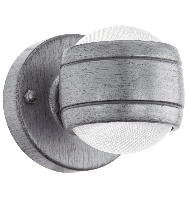 Oprawa zewnętrzna na ścianę Sesimba antyczne srebro