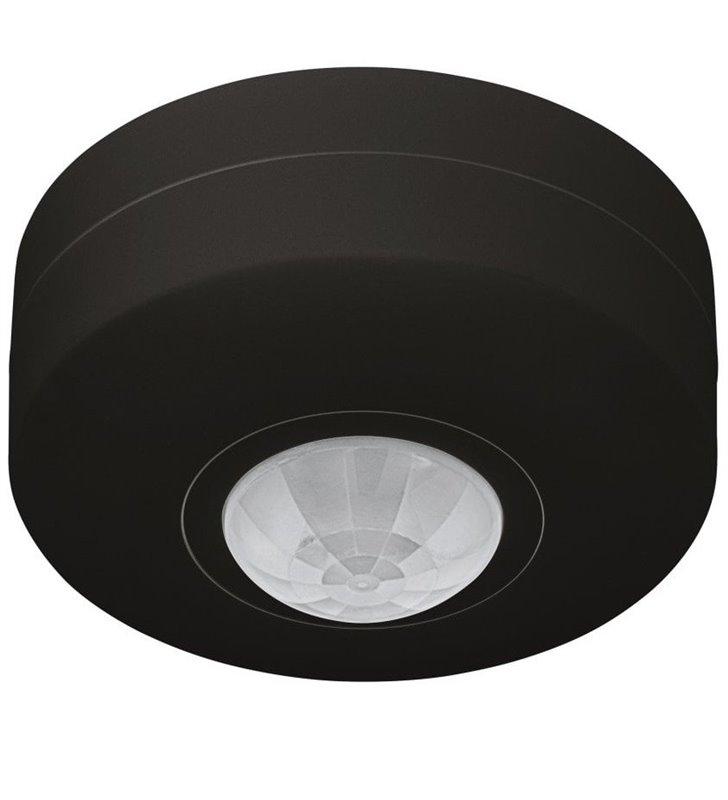 Okrągły czarny czujnik ruchu Detect Me6 360 stopni montaż na suficie