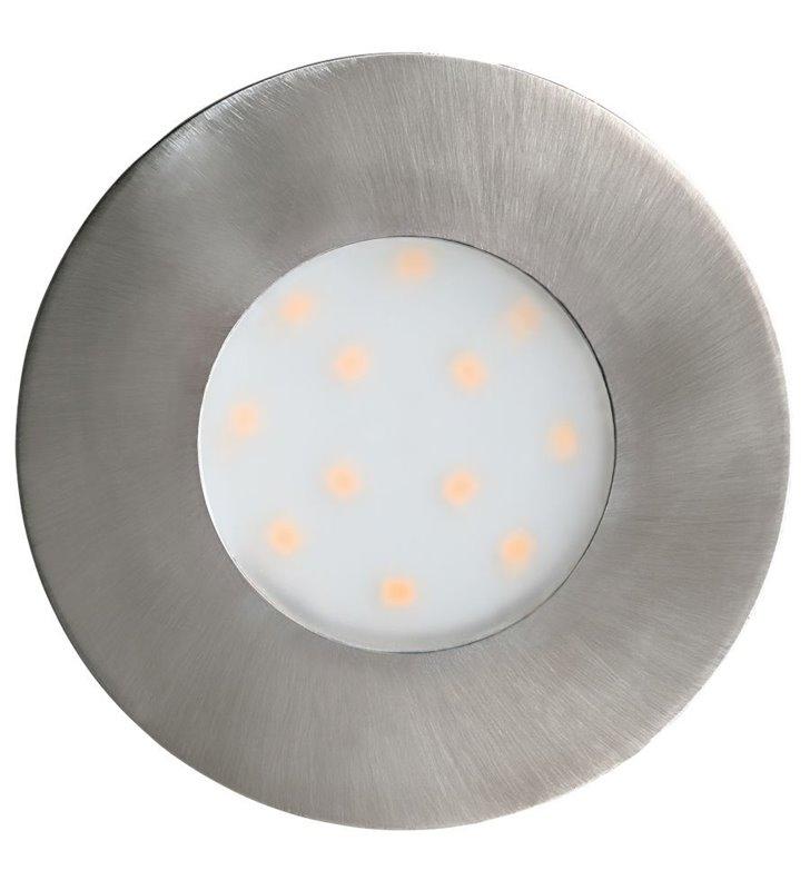 Lampa zewnętrzna punktowa do wbudowania w podbitkę Pineda-IP nikiel średnica 78mm