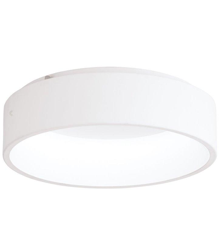 Nowoczesny biały okrągły średni plafon sufitowy Marghera1 450 z możliwością ściemniania