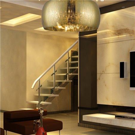 40cm szklany złoty plafon Rain klosz ze strugami wody wewnątrz podłużne kryształy do salonu sypialni na przedpokój