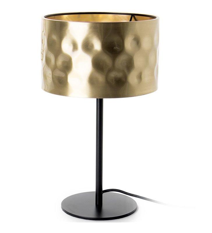 Lampa stołowa Forge czarna podstawa złoty klosz z metalu - DOSTĘPNA OD RĘKI