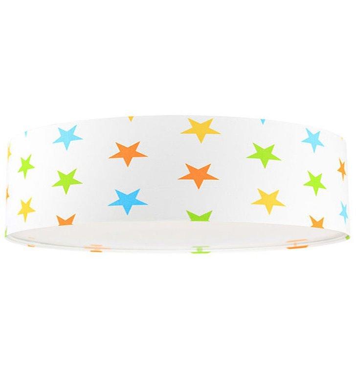 Plafon Antek 500 biały w kolorowe gwiazdki do pokoju dziecka