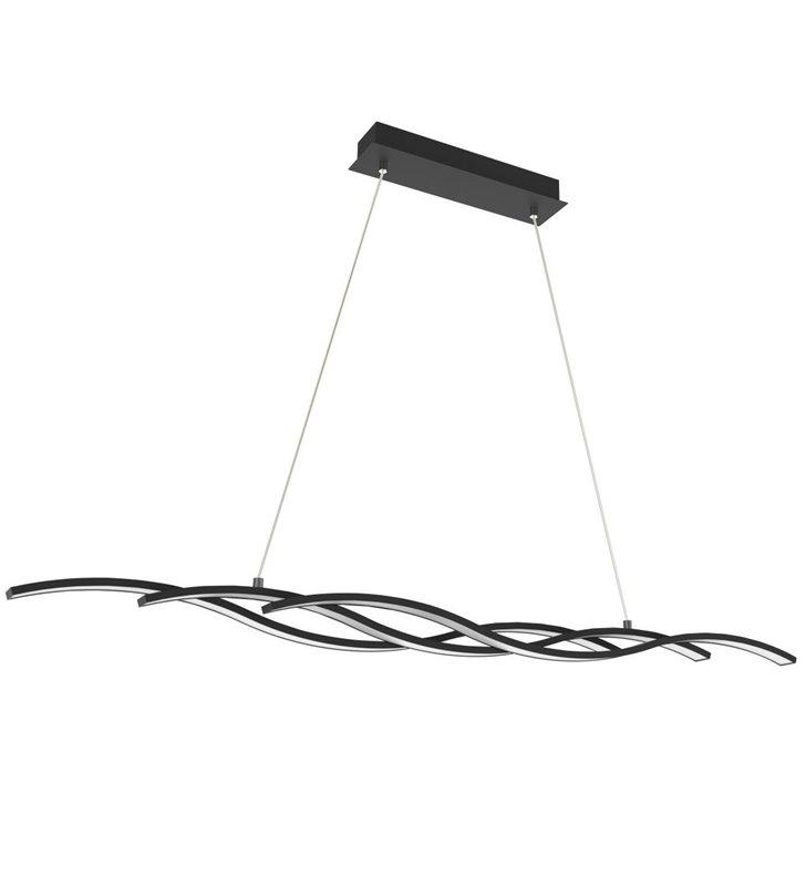Lampa wisząca Resina czarna 3 LEDowe klosze do salonu sypialni jadalni kuchni nad stół wyspę kuchenną
