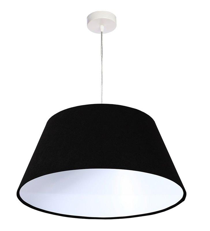 Lampa wisząca Preto czarna z weluru średnica 50cm stożek do jadalni nad stół do salonu sypialni