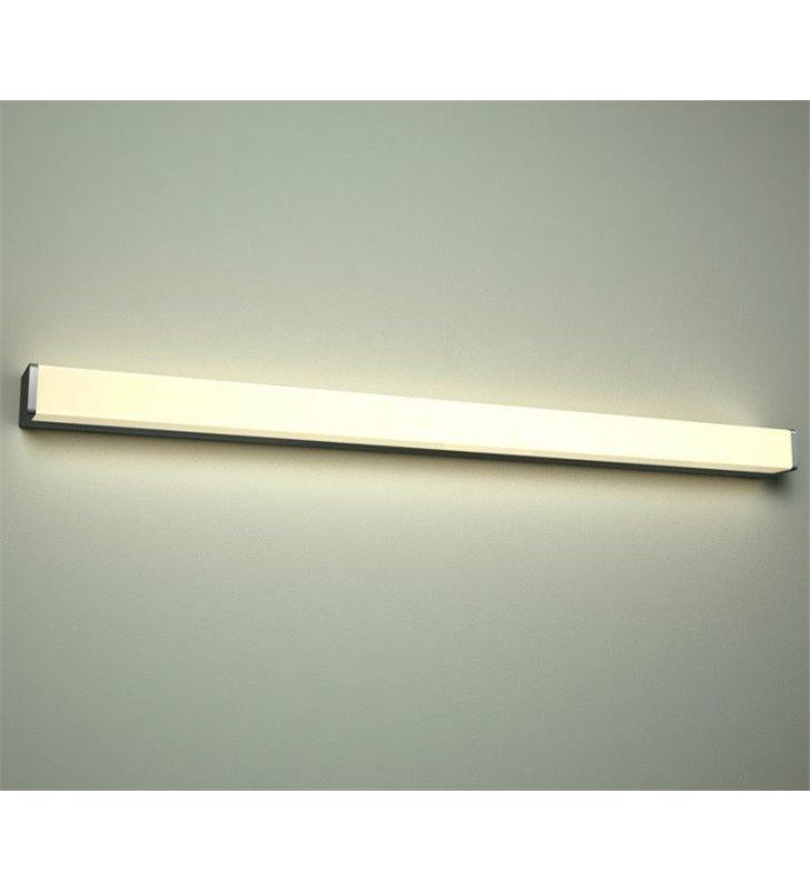 Kinkiet łazienkowy Peter podłużny 90cm 3000K ciepła barwa światła proste brzegi