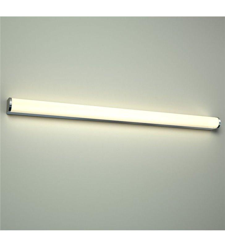 Podłużna lampa łazienkowa Petra 90cm 3000K zaoblona