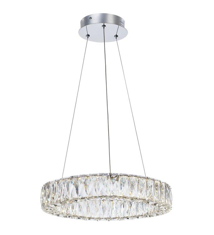 Lampa wisząca Perla kryształowa obręcz podłużne kryształy