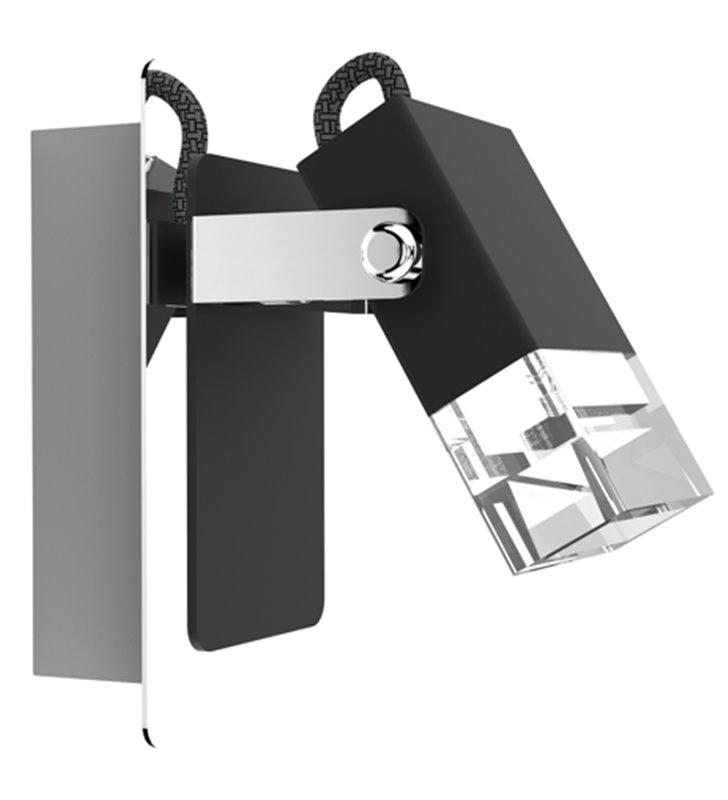 Kinkiet Tolo LED czarny z wykończeniem chrom