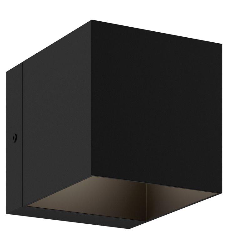 Kinkiet Transfer czarny kostka nowoczesny żarówka G9