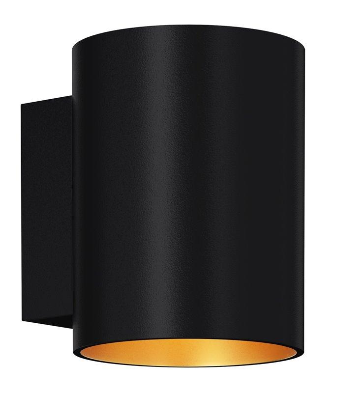 Nowoczesny czarno złoty kinkiet Sola okrągły do wnętrz w stylu minimalistycznym technicznym nowoczesnym