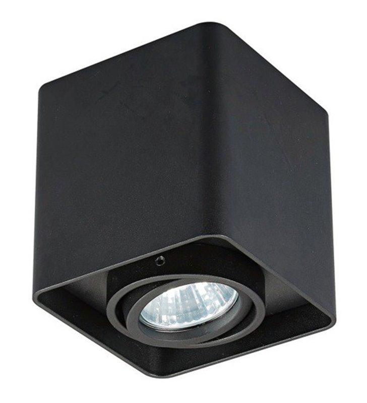 Kwadratowa czarna lampa sufitowa Quadry oprawa ruchoma