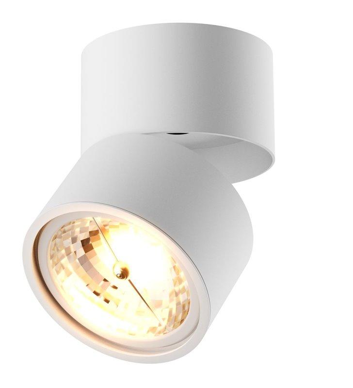 Biała okrągła lampa ścienno sufitowa Lomo