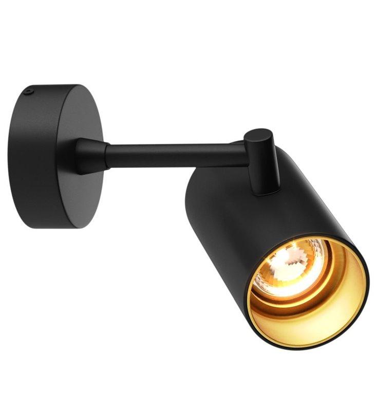 Kinkiet Tori czarny ze złotym wykończeniem nowoczesny techniczny