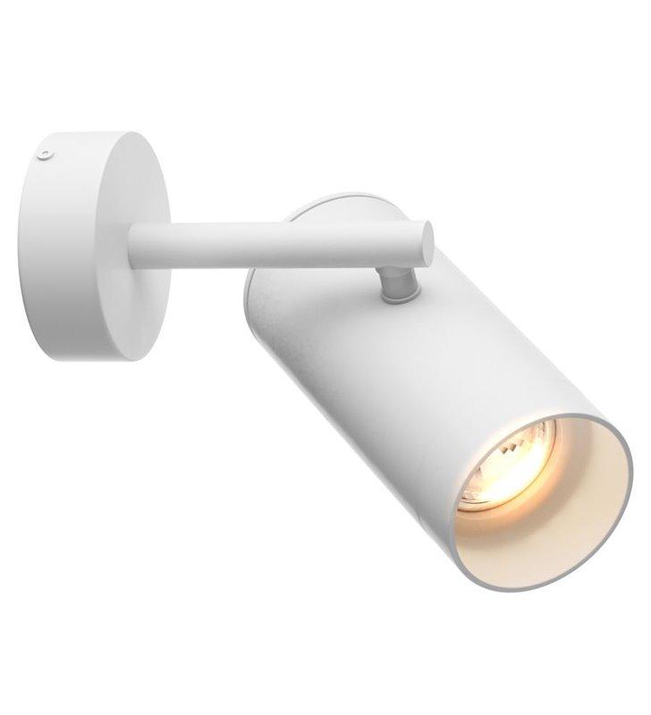 Lampa ścienna Tori biała nowoczesna styl techniczny ruchomy klosz