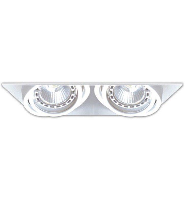 Lampa do wbudowania Oneon biała na 2 żarówki GU10 oprawa ruchoma