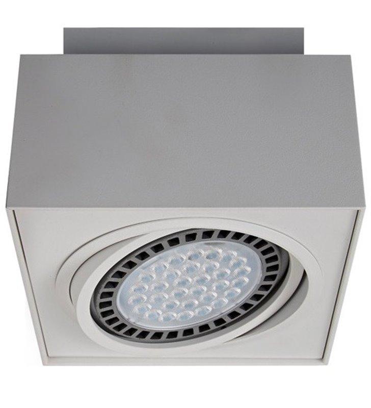 Kwadratowa pojedyncza lampa sufitowa Boxy w kolorze białym