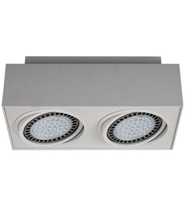 2 punktowa lampa sufitowa downlight Boxy biała nowoczesna natynkowa