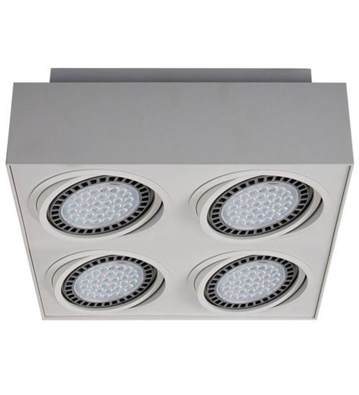 4 punktowa kwadratowa lampa sufitowa plafon downlight Boxy biała nowoczesna natynkowa