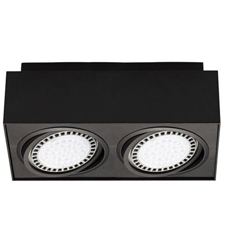 Lampa sufitowa plafon Boxy czarna 2 punktowa natynkowa