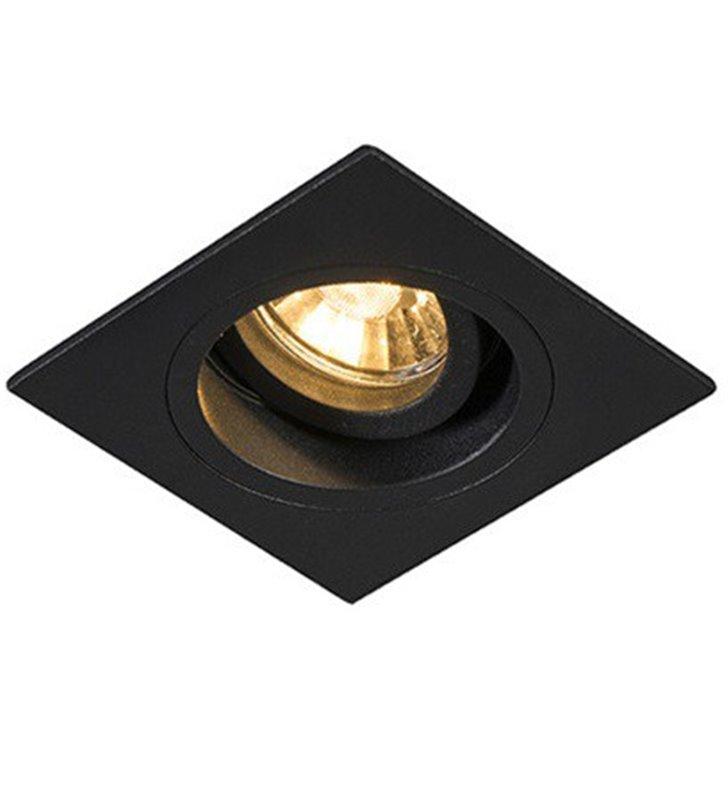 Kwadratowa czarna lampa punktowa do wbudowania Chuck ruchoma GU10
