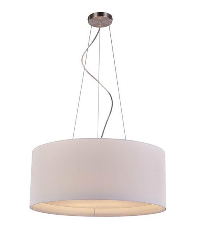 Lampa wisząca Cafe z białym abażurem 60cm 4 żarówki do salonu sypialni jadalni