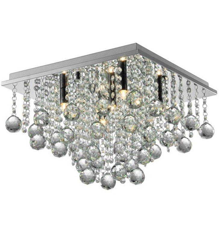 Kryształowy kwadratowy plafon Rangel 400 do salonu sypialni jadalni pokoju dziennego na przedpokój