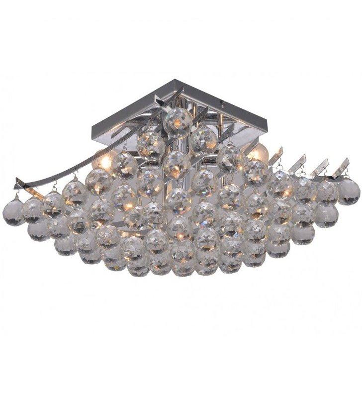 Plafon Medel 400 kwadratowy z kryształowymi kulami do salonu sypialni jadalni pokoju dziennego na przedpokój