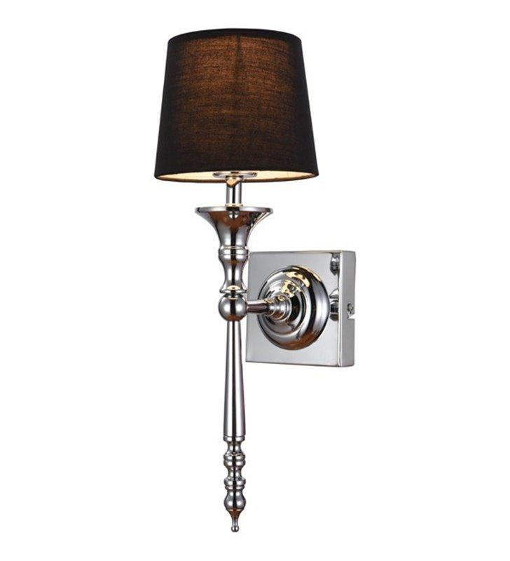 Kinkiet Cloe elegancki stylowy dekoracyjny korpus czarny do wnętrz nowoczesnych i klasycznych do salonu sypialni na korytarz