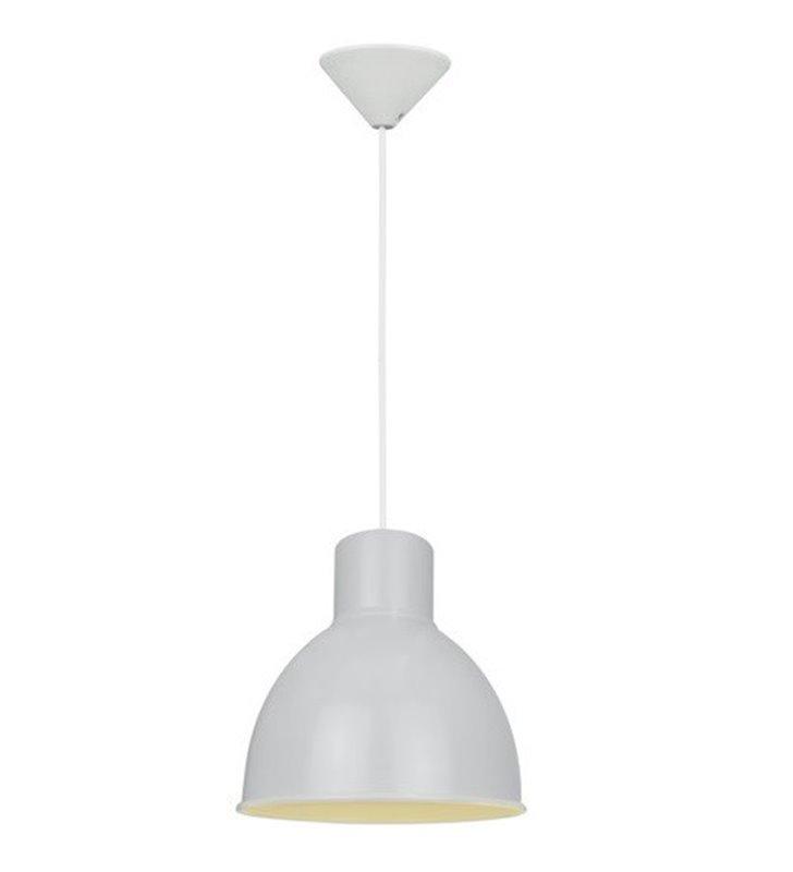 Loftowa biała lampa wisząca Elstra metalowa 21,5cm