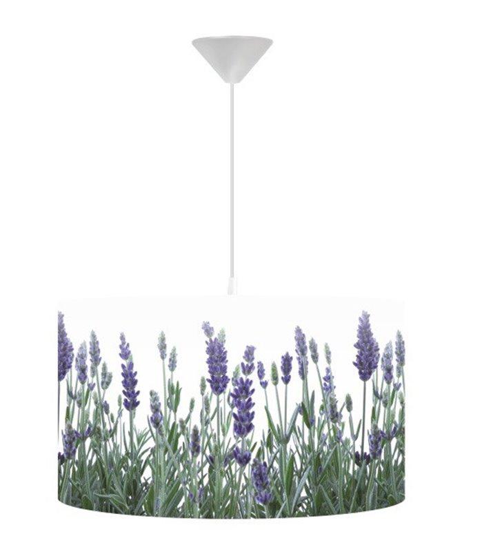 Lampa wisząca Pachnąca Lawenda np. do kuchni jadalni salonu sypialni średnica 40cm