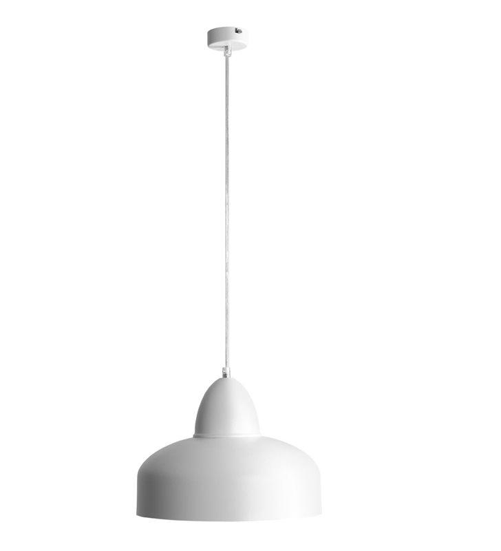 Lampa wisząca Poppo biała metalowa loftowa do salonu sypialni kuchni jadalni