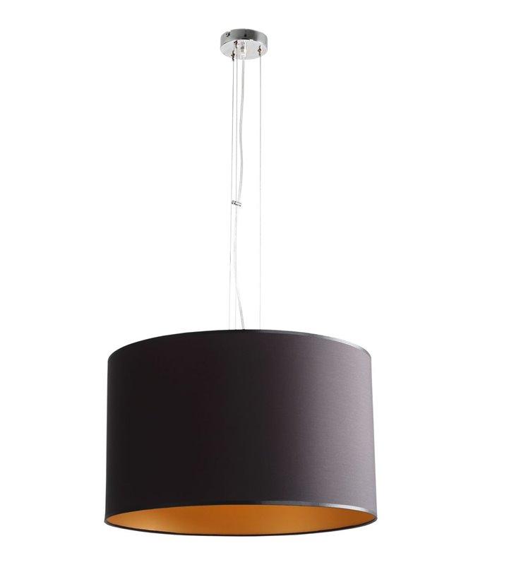 Lampa wisząca Barilla 50cm abażur czarna złoty środek 3 żarówki