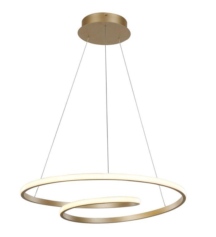 Nowoczesna złota lampa wisząca Capita LED klosz spirala do salonu kuchni jadalni sypialni