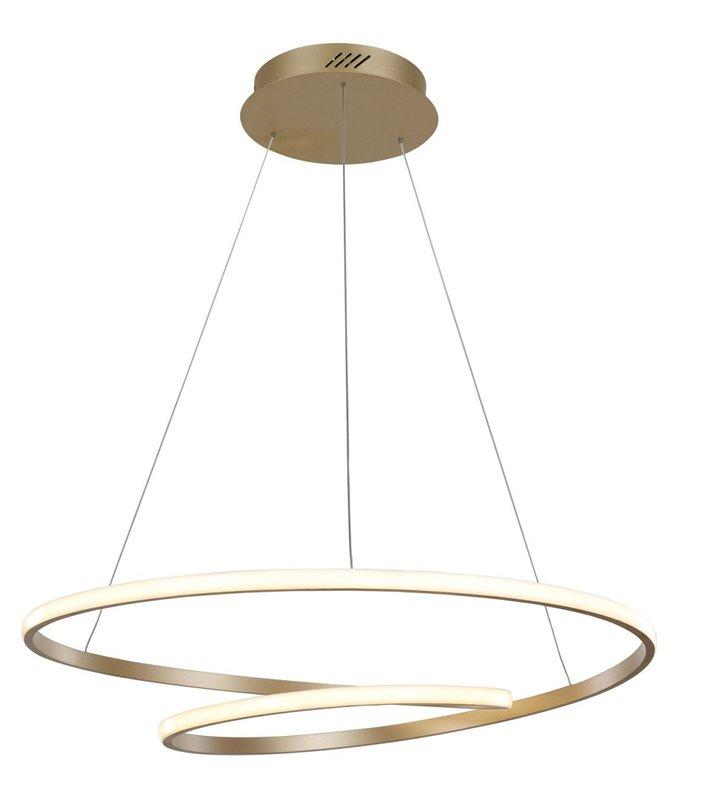 Nowoczesna duża złota lampa wisząca Capita LED ze spiralnym kloszem