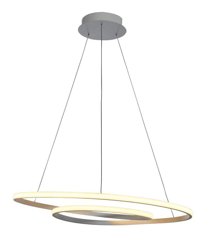 Duża biała nowoczesna lampa wisząca Capita LED ze spiralnym kloszem