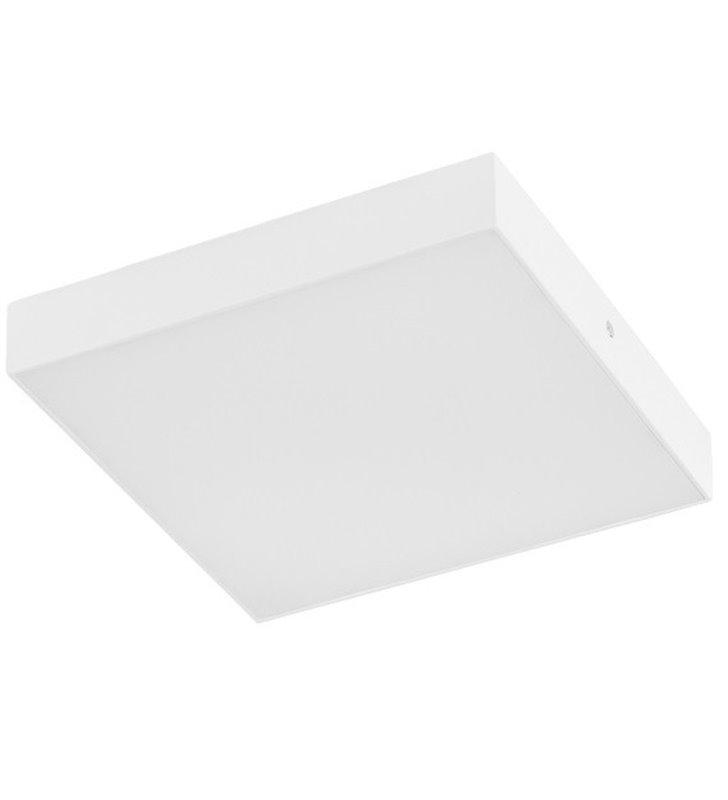 Plafon Testa Square 225 kwadratowy biały płaski nowoczesny LEDowy 3000K