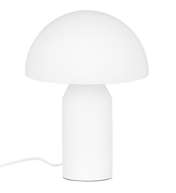 Lampa stołowa Mizuni White biała nowoczesna w kształcie grzybka włącznik na kablu