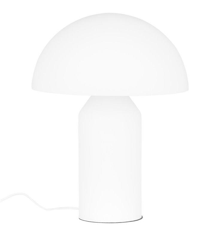 Designerska biała lampa stołowa nocna Mizuni White w kształcie grzybka wysokość 50cm