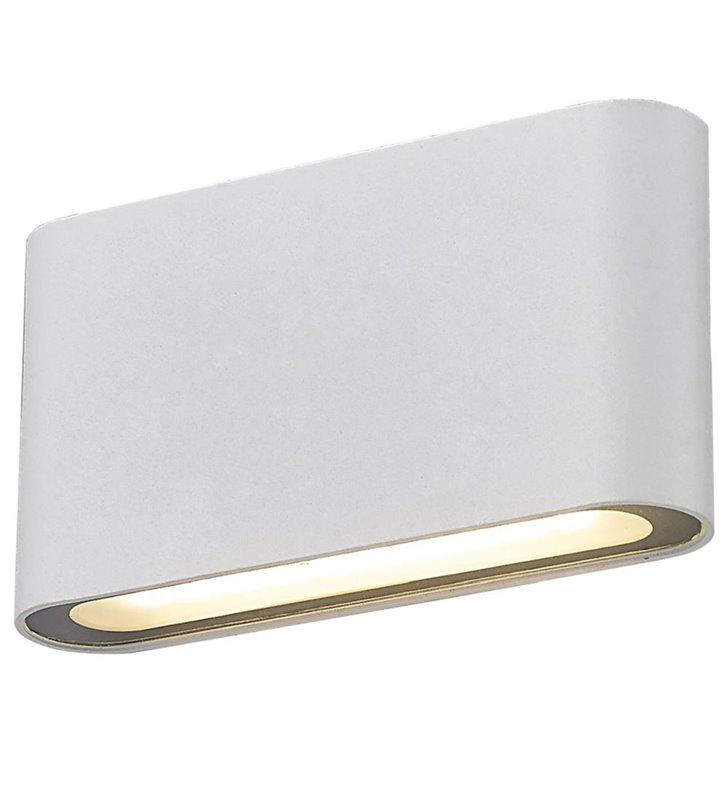 Mała nowoczesna lampa ścienna Ricky biała LEDowa prostokątna do wnętrz w stylu minimalistycznym