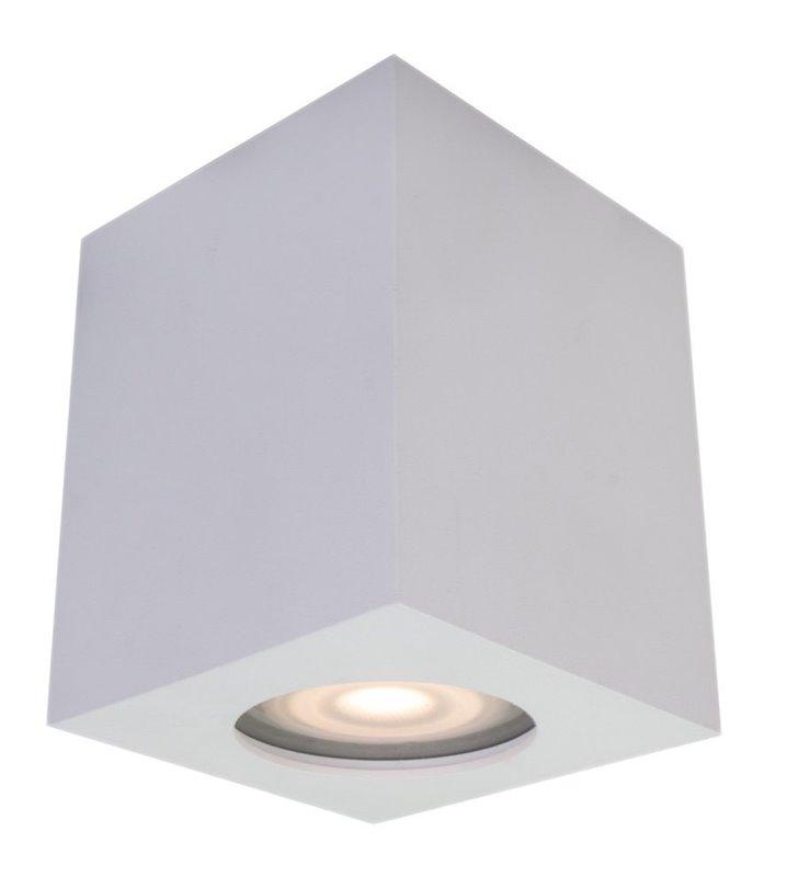 Kwadratowa biała lampa sufitowa do łazienki typu downlight IP44 Fabrycio