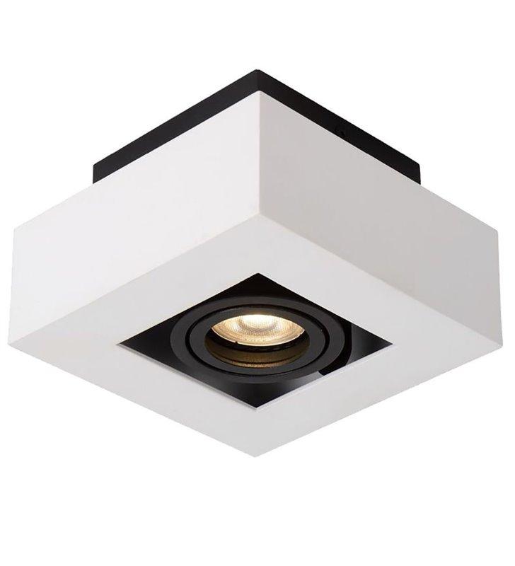 Lampa sufitowa plafon Casemiro 140 biało czarna styl techniczny