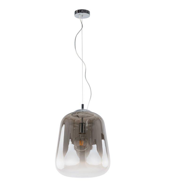 Szklana dymiona lampa wisząca Lanila do salonu sypialni jadalni kuchni