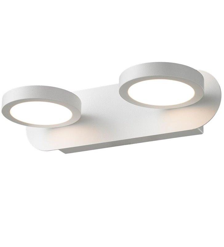 Lampa ścienna z dwoma kloszami Kendra w kolorze białym styl nowoczesny