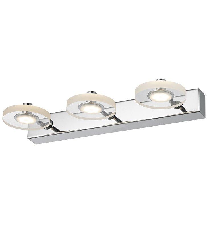Kinkiet Harmony LED 3 punktowy podłużny nowoczesny kolor chrom