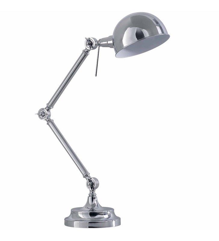 Lampa gabinetowa Kadina chrom styl vintage retro - DOSTĘPNA OD RĘKI