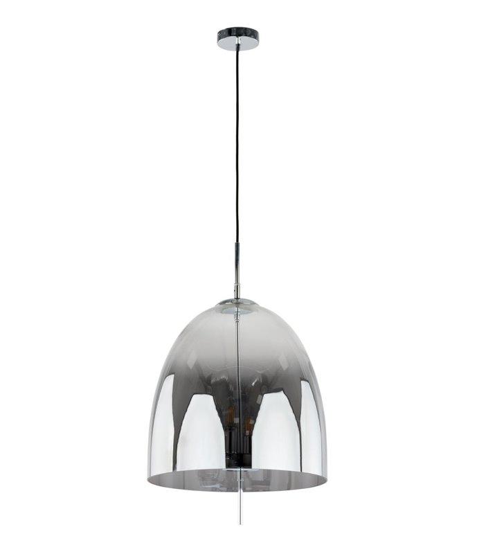 Lampa wisząca Alan klosz szklany dymiony wewnątrz 4 punkty świetlne styl nowoczesny do salonu sypialni jadalni kuchni